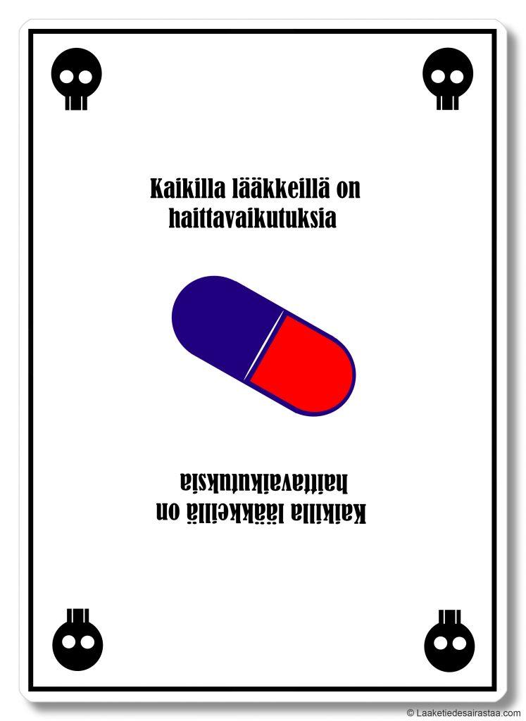 Kaikilla lääkkeillä on haittavaikutuksia -kortti